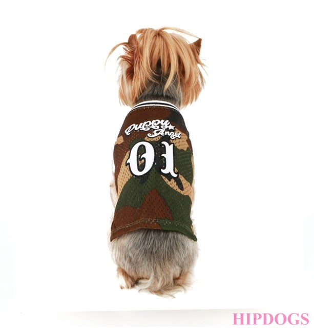 Puppy Angel  Basketball Jersey (Military)