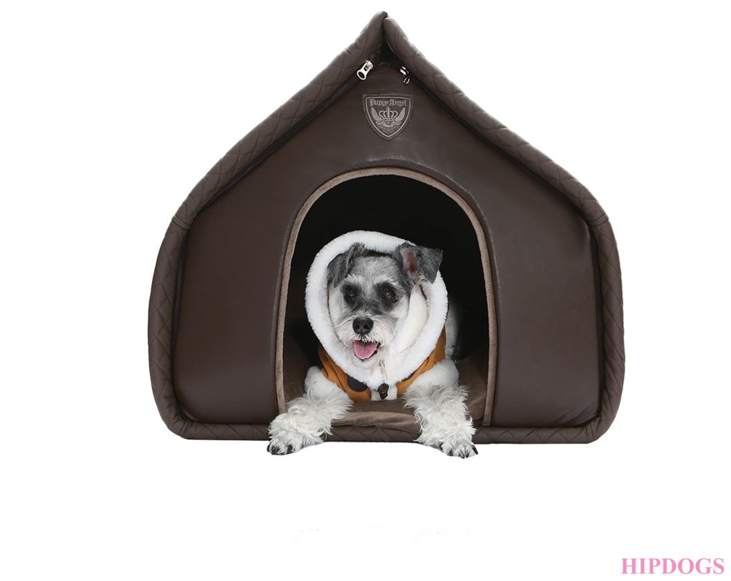 Puppy Angel Luxury Quiltted House brown