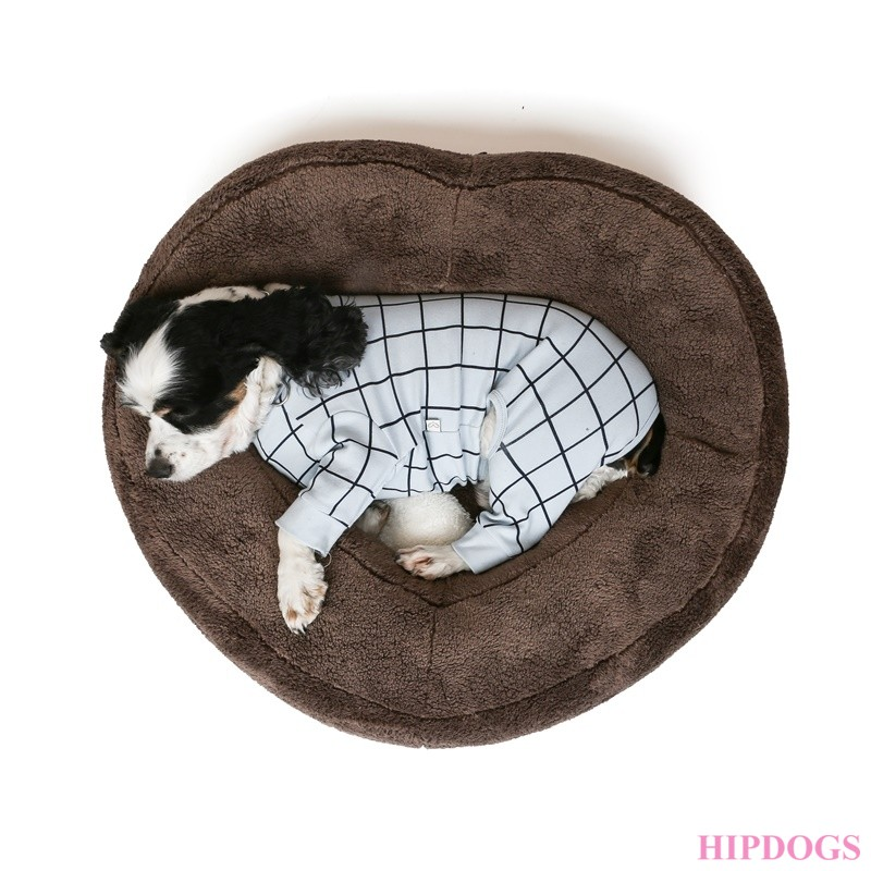Puppy Angel Heart Cushion brown