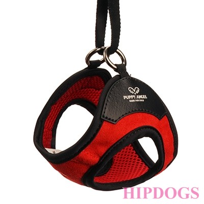 Puppy Angel(TM) ANGIONE(TM) Glasses Harness set (Clip type) red