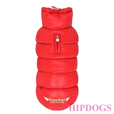 PUPPY ANGEL LOVE FAUX DOWN PADDING VEST (REGULAR, SNAP) red