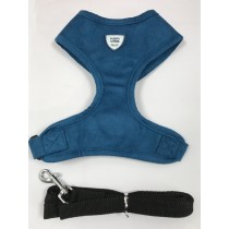 Puppy Angel DU ANGIONE Suede Harness set blue
