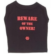 Beware of the owner zwart