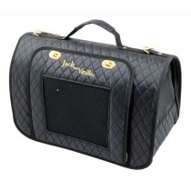 Jack & Vanilla Bizou Pet Carrier Black and Gold