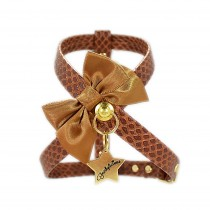 Funkylicious Bow Snake Chocolate Harness