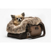 Dog Carrier Aloké Croco Brown