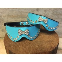 Halsband bow blue