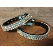 Halsband puppy strass blue