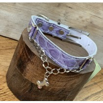 Puppy Angel halsband+riem set purple bone 40 en 50 cm