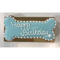 Hondentaart Bone Happy Birhtday yoghurt blue