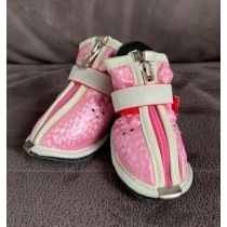 Puppy Angel hondenschoen roze set per 4