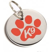 Paw ID Tag Orange