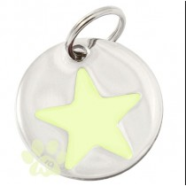 ID Tag Glow In The Dark Star