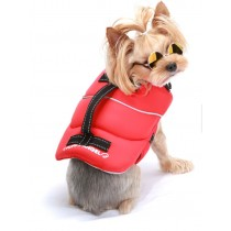 Puppy Angel Neon Life Vest red