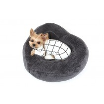 Puppy Angel Heart Cushion gray