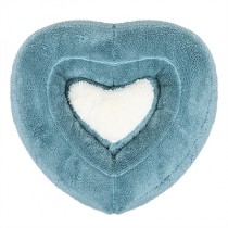 Puppy Angel Heart Cushion blue