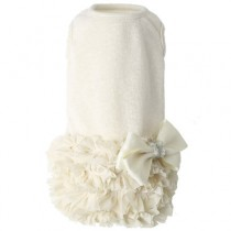 Puppy Angel Luxury Frilled Dress Ivory