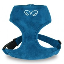 Puppy Angel DU ANGIONE Suede Harness (Regular Soft) blue