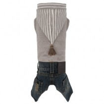 Puppy Angel KoKal Hoodie Denim Overall Beige