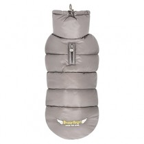 Puppy Angel Love Faux Down Padding Vest (Regular, Snap) gray