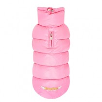 Puppy Angel Love Faux Down Padding Vest (Regular, Snap) pink