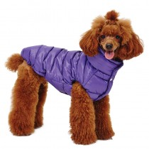 Puppy Angel Love Faux Down Padding Vest (Regular, Snap) purple maat Small