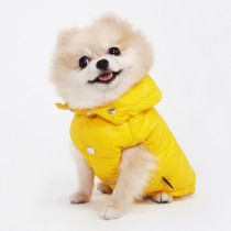 Puppy Angel Love Faux Down Padding Vest (Regular, Snap) yellow