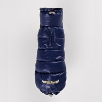 Puppy Angel Love Down Padding Vest Teckeljas (Long, Snap) Navy