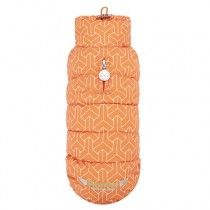 Puppy Angel Luxury Faux Down Vest(Button, Regular) orange