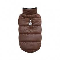 Puppy Angel Quillted Padded Vest(Ultra Light, Regular Length, Snap) brown maat Small