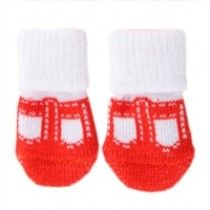 Puppy Angel Socks red