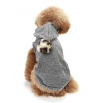 Puppy Angel PomPom Hood Sweater gray
