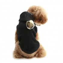 Puppy Angel PomPom Hood Sweater Black
