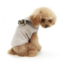 Puppy Angel PomPom Hood Sweater Beige