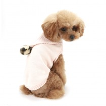 Puppy Angel PomPom Hood Sweater Pink
