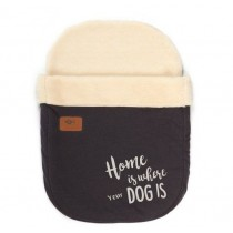 "tQel Snoozy bag Lapland ""HOME IS WHERE YOUR DOG IS """