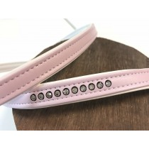 Riem fashion strass roze