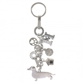 Happy House Sleutelhanger Teckel (zilver)