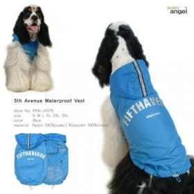 Puppy Angel Fifth avenue regenjas blue LAATSTE maat 4XL