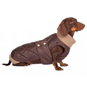 tQel Choco Quilted waterproof parka met col – Simon Choco