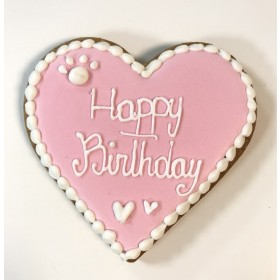 Dolcimpronte Hondenbiscuit heart Happy Birthday pink