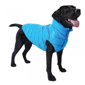 Puppy Angel Love Faux Down Padding Vest (Regular, Snap) blue