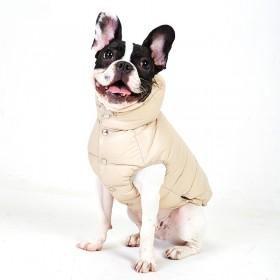 Puppy Angel Love Faux Down Padding Vest (Regular, Snap) beige