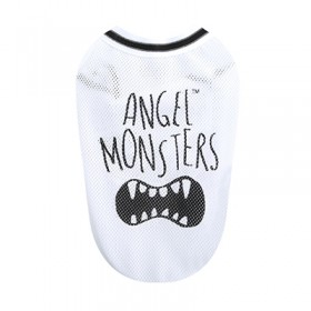 Puppy Angel Angel Monsters Mesh Sleeveless white